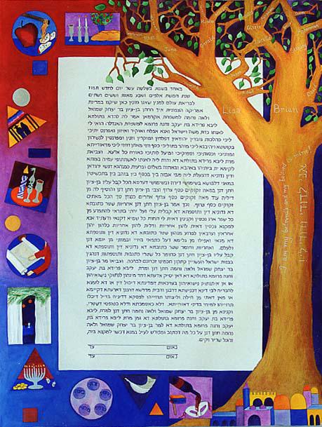 The Jewish Family Tree Handmade Ketubah