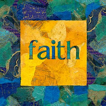 Faith on Blue and Yellow